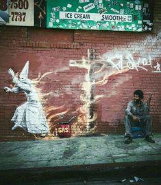 The only good fascist is a dead fascist. No nazis, no KKK, no fascist USA. Street Wall Art, Street Mural, Best Street Art, Amazing Street Art, Street Art Graffiti, Urban Graffiti, Graffiti Murals, Mural Art, Banksy