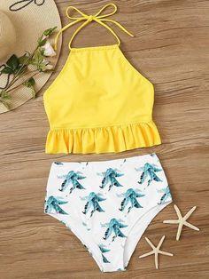 2020 Women Swimsuits Bikini Baby Blue Bikini Two Piece Thong Bathing Suits Beach Swimsuit Plus Swim Bathing Suits For Teens, Summer Bathing Suits, Swimsuits For Teens, Cute Bathing Suits, Women Swimsuits, Target Bathing Suits, Vintage Bathing Suits, Trendy Bikinis, Cute Bikinis