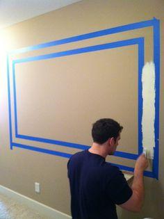 Paint the frame in Desert Springs blue to create a huge framed chalkboard