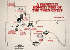 An Honest Map of the Twin Cities - MSP's Best Map Ever