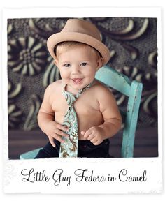 Little Guy Fedora in Camel by Design Revolution Online #newbornprops #props #boyprops #backdrops #hats