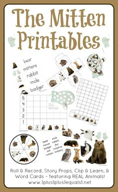 The Mitten Printables extras included from 1+1+1=1.. lots of printables (clothespin matching, etc)