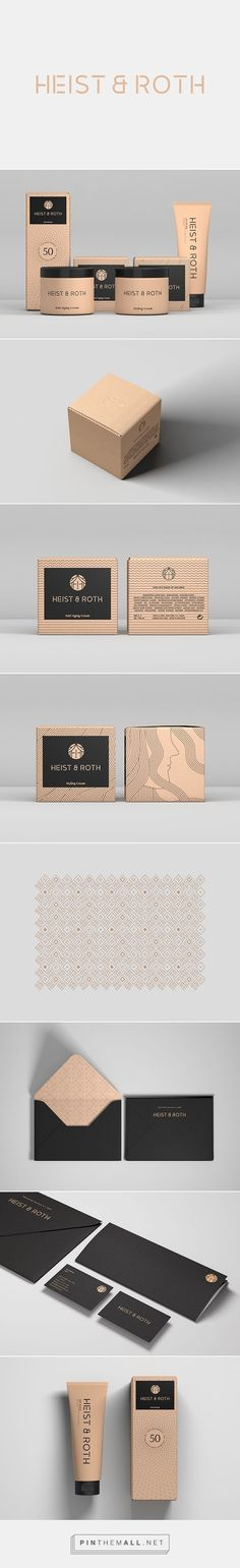 Heist & Roth packaging branding on Behance via Robinsson Cravents curated by Packaging Diva PD. Heist & Roth is a high-end brand specializing in skin care and beauty products.