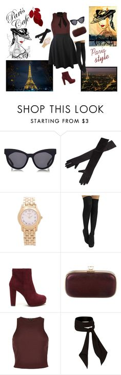 """""""Paris style :*"""" by leagoo ❤ liked on Polyvore featuring Karen Walker, Gucci, Anya Hindmarch and River Island"""