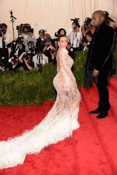 Pin for Later: Déjà vu: Kam euch Kim Kardashian's Kleid auch gleich so bekannt vor? Kim Kardashian in Roberto Cavalli bei der Met Gala 2015