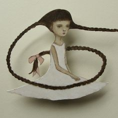 https://flic.kr/p/rRmXt6 | I braid my hair | paper doll