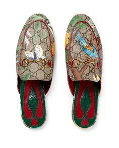 e1f8b77b691 Princetown GG Canvas Horsebit Mule Slipper Flat Multi. Gucci ShoesGucci ...