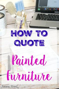Great information for anyone who paints furniture! Free downloadable custom furniture painting work order form, plus lots of tips for quoting custom furniture painting jobs. https://canarystreetcrafts.com/