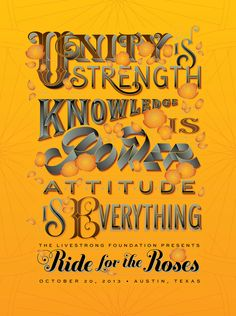 Jessica Hische - Ride for the Roses