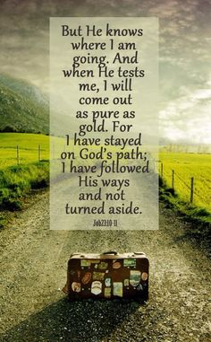 this is reassuring to know God sees where I am and where I am going, I have work to do on my part so I do come out like gold. God has His hands full with me.