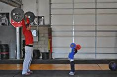 An American In Montana: A Father And Son Go To The Gym...And The Son Start...