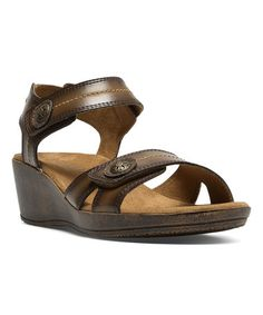 Love this Tan Lindsay Wedge Sandal on #zulily! #zulilyfinds