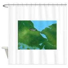 POND WORLD Shower Curtain