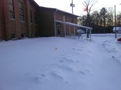 More snow at work,Feb 2014