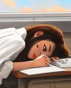 Cartoon Girl Images, Cute Cartoon Girl, Cartoon Girl Drawing, Cartoon Art Styles, Girly Drawings, Anime Girl Drawings, Anime Art Girl, Beautiful Girl Drawing, Anime Scenery Wallpaper