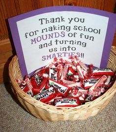 Thank you for making our school MOUNDS of fun and turning our kids into SMARTIES!! from: The PTC
