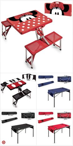 Shop Target for portable table you will love at gr Little Girl Toys, Toys For Girls, Dango Peluche, Portable Picnic Table, Picnic Tables, Mickey Mouse Kitchen, Disney Kitchen Decor, Kids Picnic, Disney Home