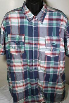 Levi's Mens Size 3XL Short Sleeve Casual Shirt #levis #ButtonFront