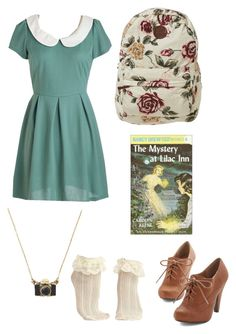 """Nancy Drew"" by poodlemcnab ❤ liked on Polyvore featuring Billabong"