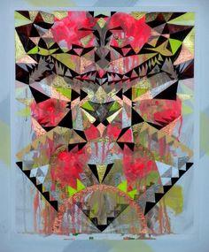 https://flic.kr/p/62ZfKT | Maya Hayuk @ Cinders Gallery | --3/15 @ 103 Havemeyer Street