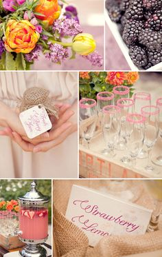 purple and orange bridal shower brunch ideas 2014 #elegantweddinginvites