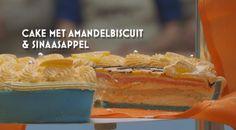 Cake met Amandelbiscuit en sinaasappel
