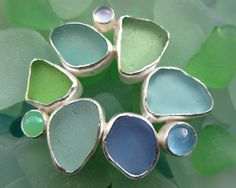 Sea Glass Jewelry by Lisa Hall | Natural Seaglass Collection | Renaissance Collection