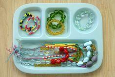 Perler bead necklaces.