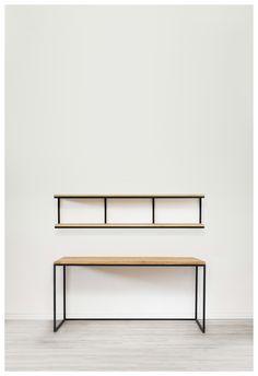 Conjunto #escritorio y #balda #Oregi #Furniture #wood #iron #furnituredesign #design #diseño #interiorismo #madera #Boisetfer www.boisetfer.es