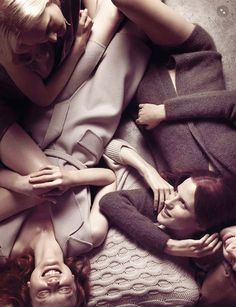 Maja Salamon, Dasha Gold & Magdalena Jasek by Camilla Akrans for Vogue Italia August 2014