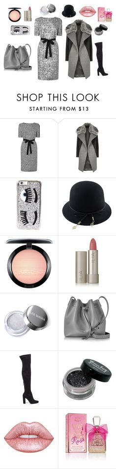 """Silver clase"" by hedvika-sediva on Polyvore featuring River Island, Chiara Ferragni, MAC Cosmetics, Ilia, Lancaster, Steve Madden, Lime Crime and Juicy Couture"