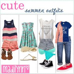 """✌ cute s u m m e r outfits ☼"" by preppytips-xo on Polyvore"