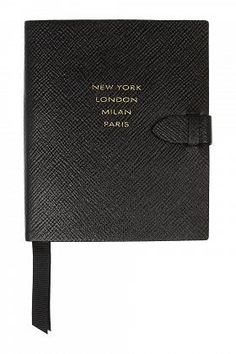 Smythson Runway Textured-Leather Notebook $135 #Shopping #OnlineShopping