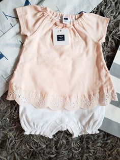 a29d93d9bed2 NWT Janie and Jack 6-12 Months romper dress Baby Girl clothes dressed one  piece