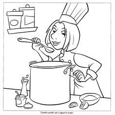 Ratatouille Coloring Pages - Educational Fun Kids Coloring Pages and Preschool Skills Worksheets Free Printable Coloring Pages, Coloring Book Pages, Coloring Sheets, Stone Soup, Healthy Soup Recipes, Healthy Food, Printable Crafts, Coloring Pages For Kids, Line Art