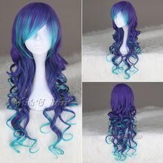 Violetti/sininen peruukki, n. 6,70€ (+ postikulut 7,80€)