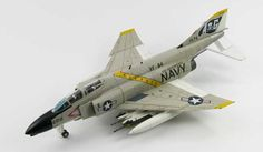 Hobbymaster 1:72 McDonnell Douglas F-4B Diecast Model Airplane HA1968 McDonnell Douglas F-4B Phantom II VF-84 `Jolly Rogers` (US Marines 1965) Diecast Model Airplane. It is made by Hobbymaster and is 1:72 scale (approx. 16cm / 6.3in wingspan).    General Background The F-4 Phantom II first entered US Military service in 1960. It was designed as a fleet defense fighter for the US Navy but by 1963 it was adopted as the US Air Force primary fighter-bomber. Despite the size and weight of this…