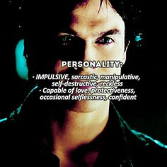[Damon Salvatore - facts] . Some of you requested this with Damon, let me know if you want more characters . Do you like Damon?