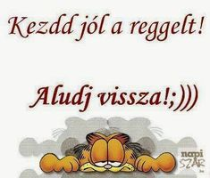 Tuti jó ötlet Garfield and morning Bad Memes, Really Funny, Smiley, Cool Things To Make, Poems, Funny Pictures, Lol, Thoughts, Motivation
