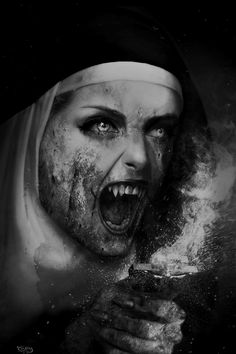 The art of horror. If it is scary, it is welcome here. Vampire Girls, Vampire Art, Dark Gothic, Gothic Art, Arte Horror, Horror Art, Gothic Horror, Creepy Art, Scary