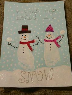 Footprints and handprints Christmas Activities, Christmas Crafts For Kids, Baby Crafts, Crafts To Do, Christmas Projects, Kids Christmas, Holiday Crafts, Toddler Art, Toddler Crafts