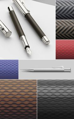 available materials of Graf-von-Faber-Castell pens from series Guilloche