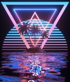 Glorious neon aesthetic vaporwave art // image credit: t Neon Wallpaper, Wallpaper Backgrounds, Iphone Wallpaper, Vaporwave Wallpaper, Retro Kunst, Retro Art, New Retro Wave, Retro Waves, Neon Rose