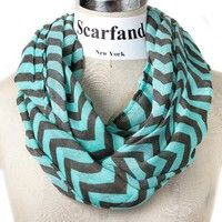 Love this aqua and gray infinity scarf!