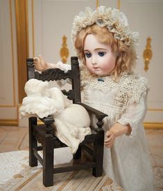 Cotillion - The Susan Whittaker Collection : 202 Very Beautiful French Bisque Bebe Triste by Jumeau in Rare Size 9