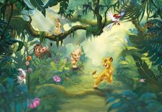 Fototapet Lion King Veselie in Jungla Print Wallpaper, Photo Wallpaper, Disney Wallpaper, Wallpaper Roll, Wallpaper Stickers, Wallpaper Direct, Paper Wallpaper, The Lion King, Disney Lion King