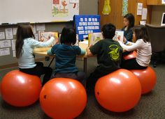 tried this once in my middle school classroom with 25 balance balls on a tile floor...ended up giving the balls to the PE teacher because no one could resist bouncing, which created a low rumbling like thunder...but it was FUN while it lasted!