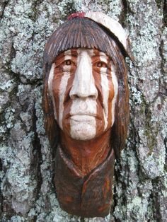 wood spirit carving | Wood Spirit and Native American Indian Carvings by Gordon Raistrick