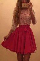 Dámske šaty ružové s čipkou Dresses For Teens, Prom Dresses, Skater Dresses, Lace Bodice, Rock, Dress For You, White Lace, Evening Gowns, Fashion Dresses
