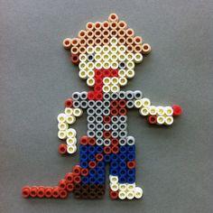 The Walking Dead Zombie Walker Perler Bead Character Magnet by HarmonArt